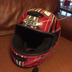G MAX Motorcycle Helmet with mic hook up
